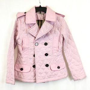 Burberry Pink Pea Coat Style Jacket NWT